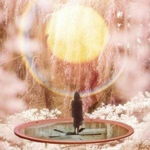 "Cover for Illmac's album Sprng which is pronounced ""spring"". The cover features a lone shadowy figure standing on a sphere in a cloudy atmosphere while looking into the sun.."