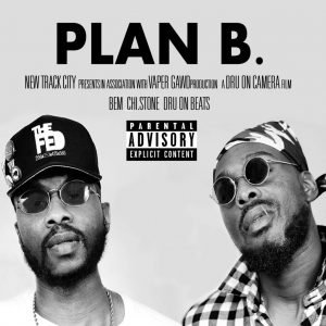 Plan B. is the new single from New Track City. The cover is black and white with headshots of Bem and Chi Stone.