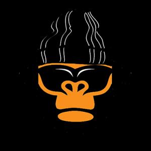 Beatkongs.com logo is an orange gorilla wearing a black beanie, sunglasses, and headphones.