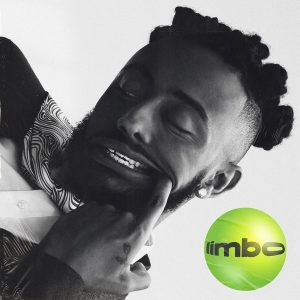 Cover for Limbo from Aminé has a closeup of his head while he yanks his lips back exposing his teeth.