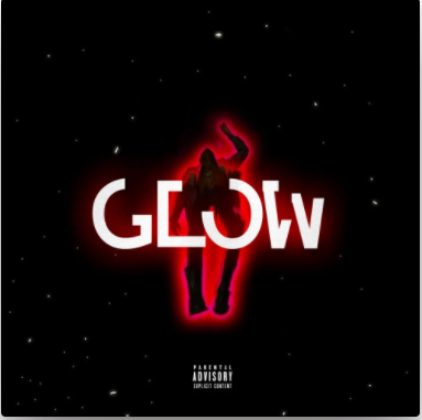"""Cover for Topp single """"Glow"""" features a dark figure surrounded by a red glow floating through space."""