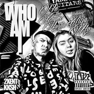 """Cover for """"Who Am I"""" from Un A.K. is a black and white picture of him and his daughter Aizja Monique making faces."""