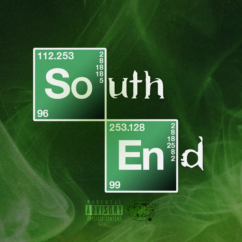 "Cover for BARZ! ""South End"" featured the words 'South End' split up to look like elements on a periodic table ala Breaking Bad."