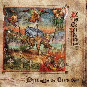 """DJ Muggs album """"Dies Occidendum"""" has a classic art style with imagery of demons hovering over a blindfolded king while stabbing him as another demon rises from Hell with a severed head in its hands."""