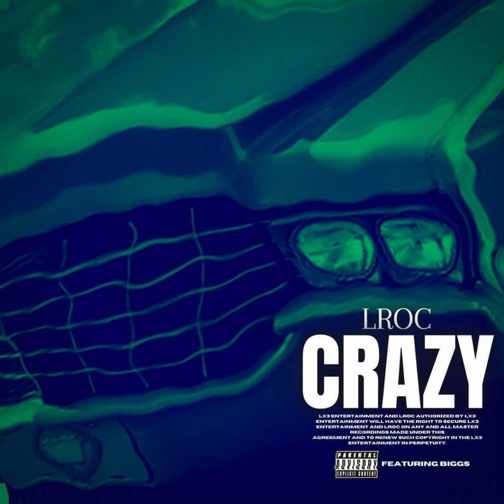 "Cover for Lroc single ""Crazy"" has a blurry picture of the front end of a car."