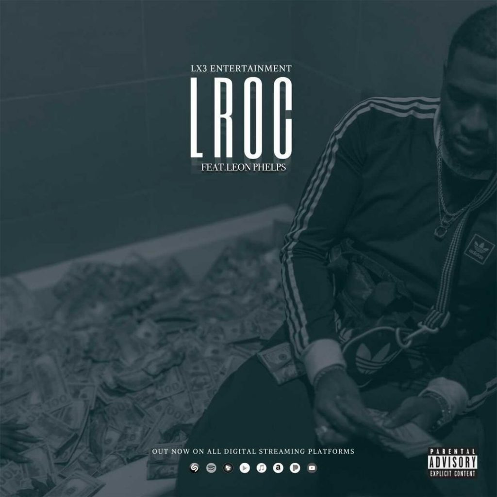 "Cover for Lroc single ""LROC"" has the rapper sitting on the side of a bath tub full of money while he counts more money."