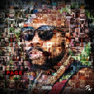 """Page Kennedy has a new album out called """"Page"""" and here on the cover is a collage of images from current events that forms a picture of the rapper's face."""