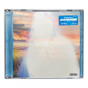 "Cover for Brockhampton album ""Roadrunner: New Light, New Machine"" is a compact disc case with a picture of a horizon on its cover that is overlain with a whitey shadowy figure."