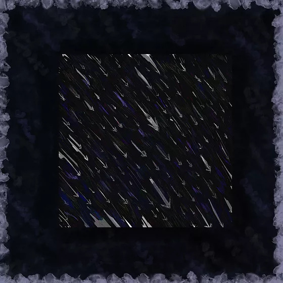 """On the cover of TheDgtl and Mr. Hentvii single """"Been There"""", drawn arrow like shapes drop at an angle through a dark backdrop."""