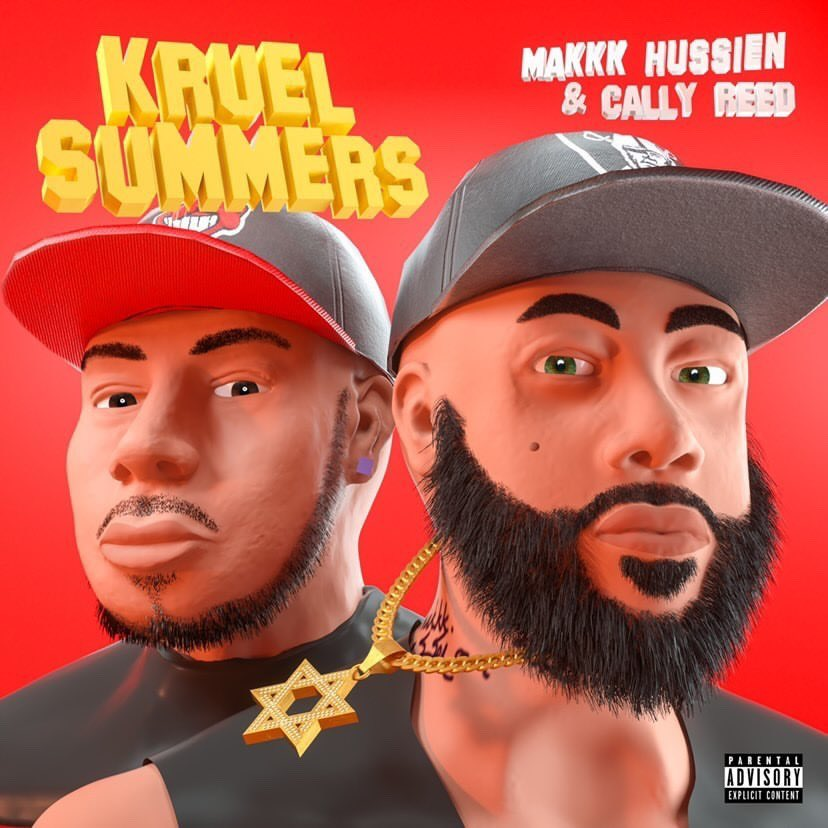 """Makkk Hussien and Cally Reed are pictured in 3d animated format here in the cover to their single """"Kruel Summers"""""""